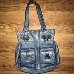 ‼️FINAL PRICE‼️B Makowsky Blue Genuine Leather Bag